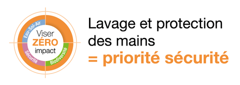 Slogan carton BPA lavage mains